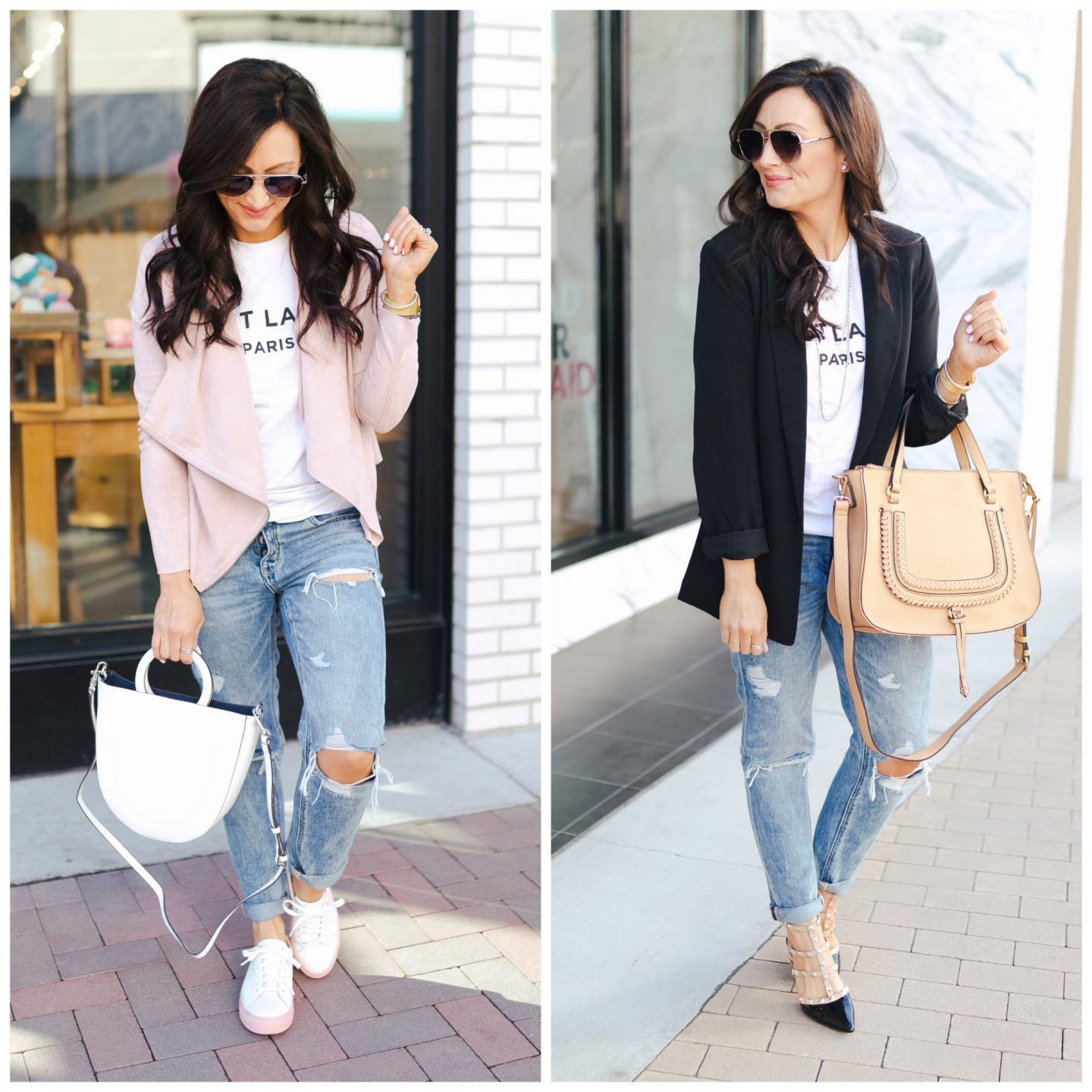 a3ea7a50 Two Ways To Style a Graphic Tee & Distressed Denim - Ashley Donielle